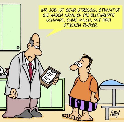 Cartoon stress medium by karsten tagged gesundheit stress arbeit