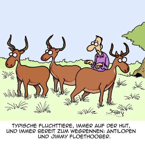 Cartoon: Typisch (medium) by Karsten tagged natur,wildtiere,flucht,fluchttiere,beute,überleben,afrika,savanne,feigheit,natur,wildtiere,flucht,fluchttiere,beute,überleben,afrika,savanne,feigheit