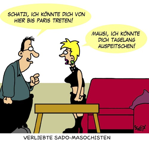 Cartoon: Verliebt (medium) By Karsten Tagged Beziehungen,ehe,erotik, Verliebtheit