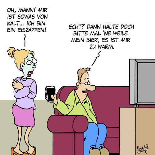 Warm von Karsten Schley | Liebe Cartoon | TOONPOOL