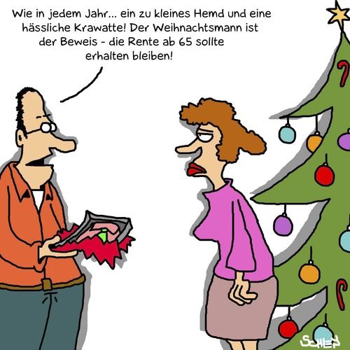 weihnachtsgeschenk von karsten religion cartoon toonpool. Black Bedroom Furniture Sets. Home Design Ideas
