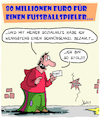 Cartoon: 80 Millionen (small) by Karsten tagged fußball,bundesliga,bayern,ablösesumme,sport,geld,business,profite,wirtschaft,steuern,hoeness,steuerhinterziehung,ticketpreise,gesellschaft