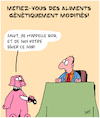 Cartoon: Aliments (small) by Karsten tagged aliments,genitaux,science,industrie,alimentaire,capitalisme,gains,politique,animaux