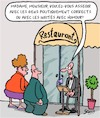 Cartoon: Au resto (small) by Karsten tagged gastronomie,restaurants,politiquement,correct,humour,liberte,expression