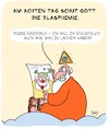 Cartoon: Blasphemie!! (small) by Karsten Schley tagged religion,christentum,judentum,islam,buddhismus,blasphemie,gott,humor,karikaturen,gesellschaft