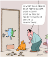 Cartoon: Chats (small) by Karsten tagged psychologie,animaux,domestiques,relations,nature,chats