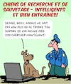 Cartoon: Chiens de Secours (small) by Karsten tagged urgences,police,medical,sauvetage,animaux,chiens
