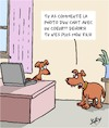 Cartoon: Dehors! (small) by Karsten tagged enfants,famille,parents,technologie,internet,chiens,chats