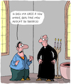 Cartoon: Dieu (small) by Karsten tagged religion,mariage,separation,catholicisme,clerge