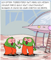 Cartoon: Extra-Terrestres (small) by Karsten tagged extra,terrestres,technologie,medias,sociaux,ordinateurs,internet