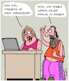 Cartoon: Facebook (small) by Karsten tagged facebook,technik,updates,computer,hasskommentare,soziales,gesellschaft