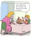 Cartoon: Happy Eastern (small) by Karsten Schley tagged eastern,eggs,bunnies,families,children,diy,religion,christianity,seasonal,holidays