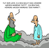 Cartoon: Höheres Wesen (small) by Karsten tagged religion,business,märkte,wirtschaft,geld,profit,gott