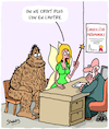 Cartoon: La Foi (small) by Karsten tagged mariage,amour,relations,mythes,legendes,bigfoot,literature