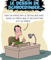 Cartoon: Le dessin de Schroedinger (small) by Karsten tagged physique,science,schroedinger,dessins,cartoons,caricatures,greve,politique,france