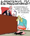 Cartoon: Lookismus (small) by Karsten tagged lookismus,soziales,correctness,politik,vorurteile,menschenrechte,gesellschaft,individualität,mentalität,benehmen,deutschland,europa