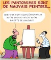Cartoon: Mauvais... (small) by Karsten Schley tagged art,pantomimes,peintres,talent,profs