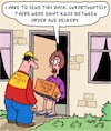 Cartoon: Parcel Delivery (small) by Karsten Schley tagged online,shopping,fashion,weight,parcels,delivery,service,transport,women,business,industry,economy,trading