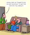 Cartoon: Pas peur! (small) by Karsten Schley tagged familles,enfants,argent,pension,parents