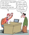 Cartoon: Poetry (small) by Karsten tagged poetry,poets,art,editors,professions,writers,culture,literature