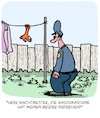 Cartoon: POLIZEI!!! (small) by Karsten Schley tagged polizei,mythen,technik,waschmaschinen,kleidung,socken,kriminalität,ernährung,medien,gesellschaft