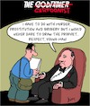 Cartoon: Respect! (small) by Karsten tagged films,caricatures,respect,freedom,of,press,the,godfather,professions,media,social,issues