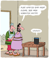 Cartoon: Spionage... (small) by Karsten tagged technik,alexa,amazon,computer,internet,spionage,datensicherheit,religion,jesus,verrat,gesellschaft,business