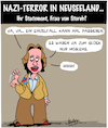 Cartoon: Statement (small) by Karsten tagged christchurch,neuseeland,naziterror,muslime,rassismus,faschismus,tod,verbrechen,politik,migration,sicherheit,afd,gesellschaft