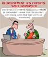Cartoon: Un veritable expert (small) by Karsten tagged medecine,coronavirus,experts,sante,medecins,television,medias,politique