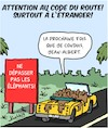 Cartoon: Vacances (small) by Karsten tagged vacances,tourisme,trafic,reglements,animaux,elephants,pays,etrangers