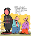 Cartoon: Vermummung (small) by Karsten tagged demontrationen,vermummung,kapitalismus,mode,shopping,marketing,business,wirtschaft,geld,glaubwürdigkeit,linke,politik,gesellschaft,deutschland