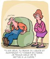 Cartoon: Vieux et pourri (small) by Karsten Schley tagged age,amour,mariage,hommes,femmes,relations,voitures,technologie,maladies