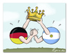 Cartoon: Final - FIFA World Cup 2014 (small) by Egero tagged egero,final,fifa,world,cup,2014,germany,argentina