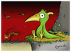 Cartoon: Learning to fly (small) by Egero tagged pterodactyl,egero,oliver,eger