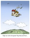 Cartoon: zerstreut (small) by Egero tagged zerstreut,absentminded,fallschirm,egero,oliver,eger