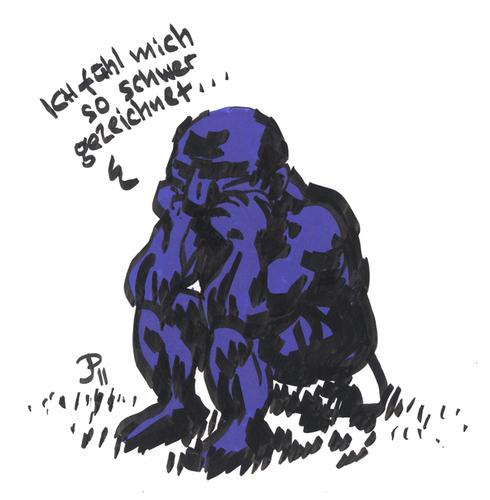 So schwer ... von Jaski | Philosophie Cartoon | TOONPOOL