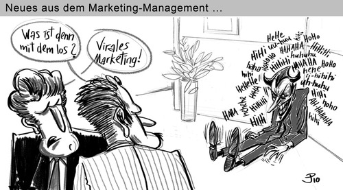 Cartoon: Virales Marketing (medium) by Jaski tagged marketing,management,business,viral