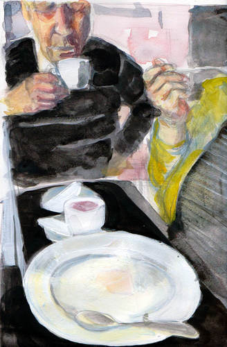 My mother eating Cheesecake von urbanmonk | Medien & Kultur Cartoon ...