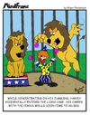 Cartoon: MINDFRAME (small) by Brian Ponshock tagged clown,circus,lions