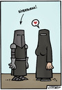 Cartoon: ritterburka (small) by Steffen Gumpert tagged burka,religion,frau,frauenrechte,freiheit,islam