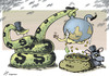 Cartoon: Big money and global corruption (small) by rodrigo tagged oecd bribery global corruption bribes officials big companies capitalism world trade