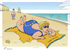 Cartoon: Eurobeach (small) by rodrigo tagged portugal,tourism,angela,merkel,europe,european,union,united,kingdom,uk,beach,summer,vacation