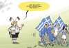 Cartoon: Greece out of the Euro (small) by rodrigo tagged euro,2012,football,poland,ukraine,soccer,germany,greece,angela,merkel