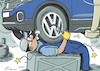 Cartoon: Overworkswagen (small) by rodrigo tagged auto,industry,volkswagen,work,employees,workers,overwork,strike,pay,layoff