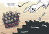 Cartoon: Papal counting-out (small) by rodrigo tagged pope,francis,catholic,church,religion,vatican,papal,conclave,god