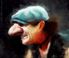 Cartoon: Brian Johnson (small) by alvarocabral tagged caricature,acdc,rock
