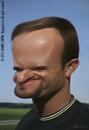Cartoon: Rubens Barrichello (small) by alvarocabral tagged caricature