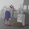 Cartoon: Amerika und die Wahl... (small) by RainerUnsinn tagged amerika,clinton,donald,trump,friedhof,grabstein,kreuz,präsident,sieg,tot,trauer,unkle,sam,usa,wahl,wahlkampf