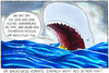 Cartoon: Auf See (small) by Yavou tagged zahnarzt,dentist,rubber,boat,see,ocean,ozean,dinghy,pottwal,whale,wal,pot,cetacean