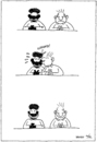 Cartoon: Black And White (small) by Yavou tagged black,white,cartoon,yavou,racism,schwarz,weiß,rassismus,kiss,kuss
